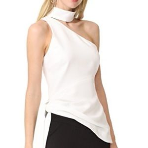 Cinq a sept one shoulder mock top